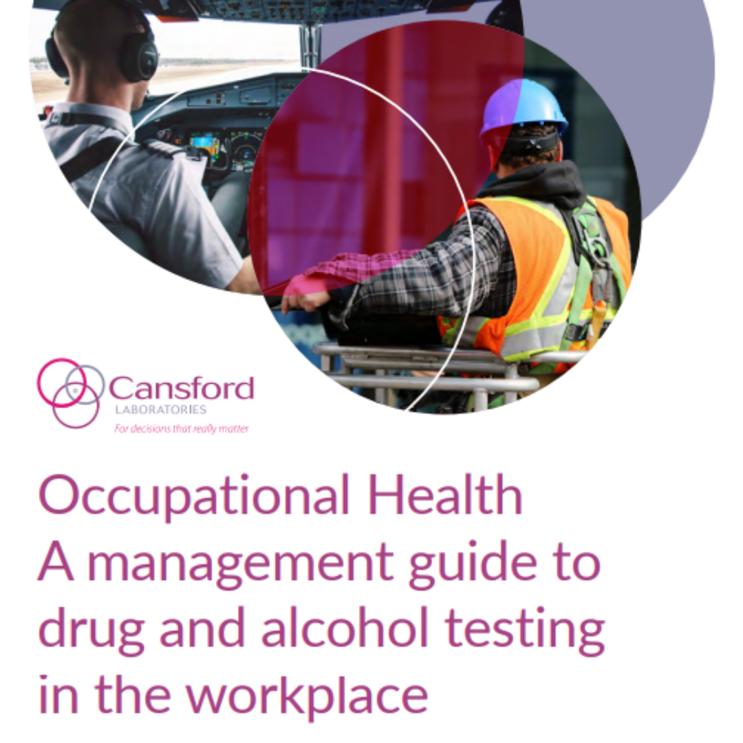 Occupational Health guide with a pilot and a construction worker on the front