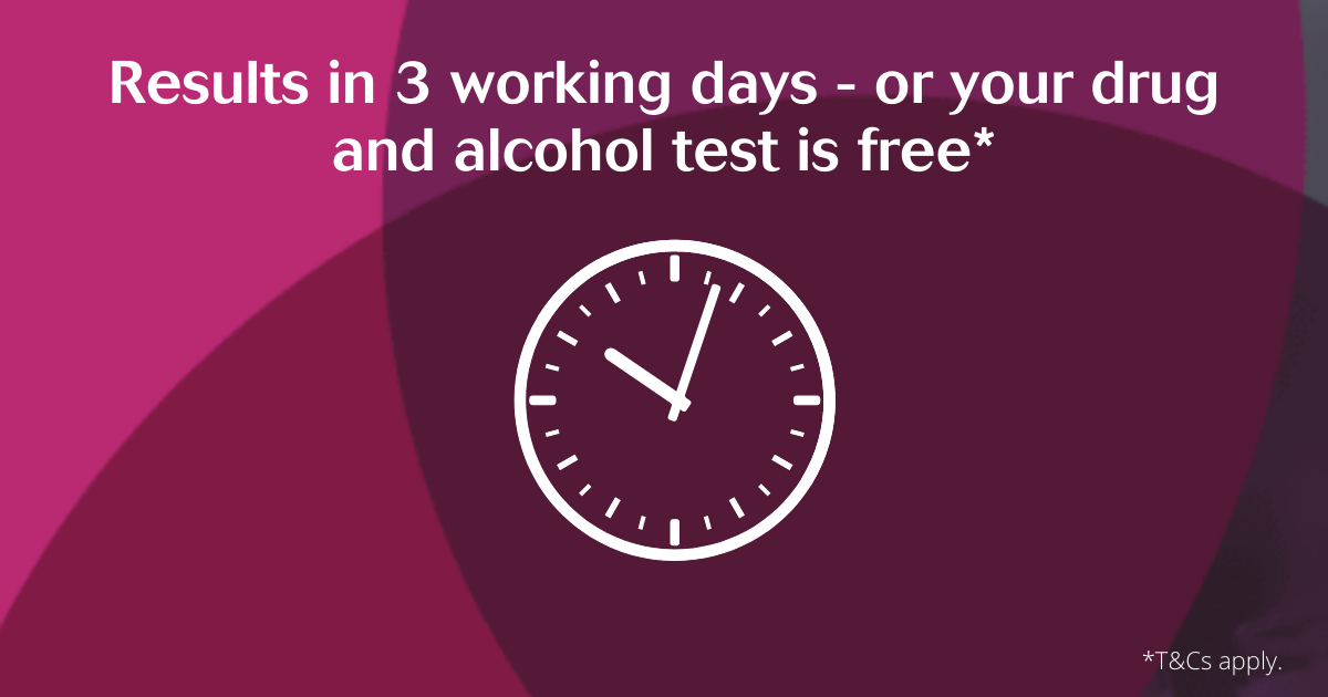 Results in three working days of your test is free